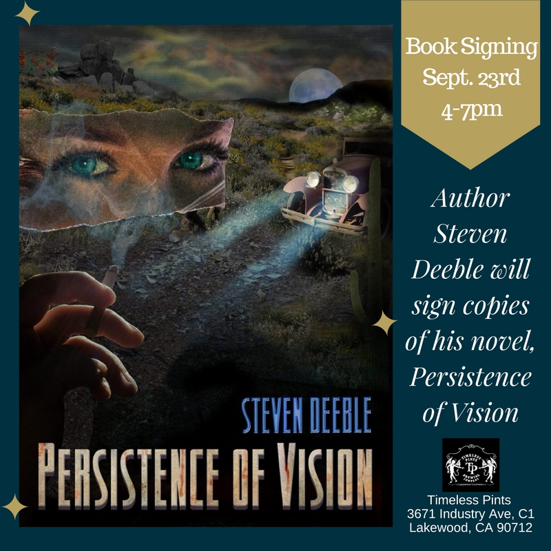 Book Signing for 'Persistence of Vision' at Timeless Pints.